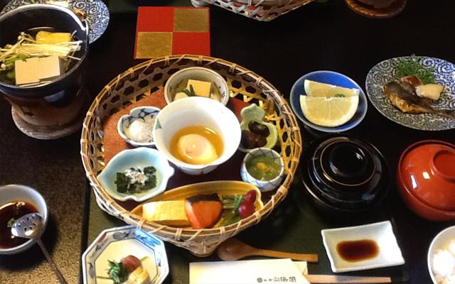 Frühstück von Ryokan, KOYOKAKU in Arima
