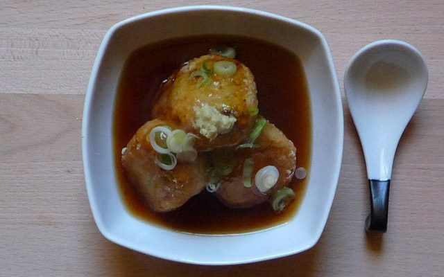 AGEDASHI DAIKON MOCHI - frittierter Rettichkuchen